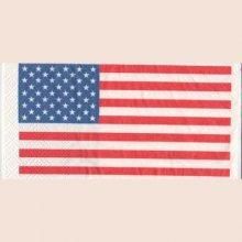 Serviette papier drapeau USA 33 cm X 33 cm 3 plis