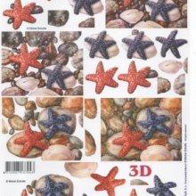 Feuille 3D étoile de mer
