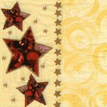 Serviette papier étoile Noël 33 cm X 33 cm 3 plis