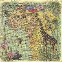 Serviette papier motif Afrique Femmes 33 cm X 33 cm 3 plis