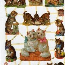 Feuilles à découper 3D chats