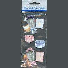 Stickers 3D fleurs et cadeau