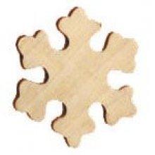 Support bois flocon en bois à peindre 70 mm x 60 mm