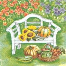 Serviette papier motif fruits et fleurs 33 cm X 33 cm 3 plis