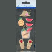 Stickers 3D Fruits d'été