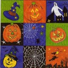 Serviette papier Halloween et chapeau 33 cm X 33 cm 3 plis