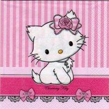 Serviette Hello Kitty charmmy 33 cm X 33 cm 2 plis