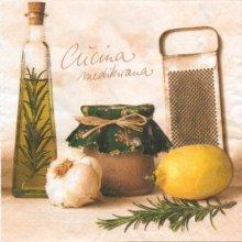Serviette papier motif huile d'olive de 33 cm X 33 cm 3 plis