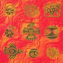 Serviette papier  motif Inca 33 cm X 33 cm 3 plis