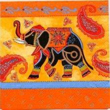 Serviette papier Inde et Elephants 33 cm X 33 cm 3 plis