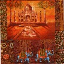 Serviette papier Temple Hindou 33 cm X 33 cm 3 plis