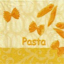 Serviette papier  motif Italie et pâtes 33 cm X 33 cm 3 plis