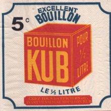 Serviette papier bouillon Kub 33 cm X 33 cm 3 plis