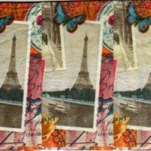 Mouchoir en papier La Tour Eiffel 20 cm X 20 cm 3 plis