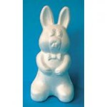 Lapin assis polystyrène 25 cm