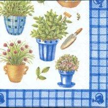 Serviette papier motif lavande en pot 33 cm X 33 cm 3 plis