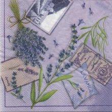 Serviette papier lavande et Provence 33 cm X 33 cm 3 plis