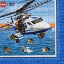 Serviette papier Lego City 33 cm X 33 cm 2 plis