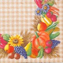 Serviette papier motif légume divers de 33 cm X 33 cm 3 plis