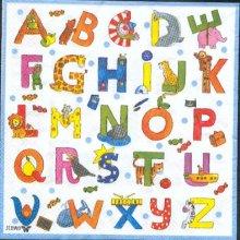 Serviette papier motif lettre de 33 cm X 33 cm 3 plis