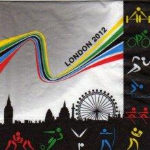 Serviette papier Londres 2012  33 cm X 33 cm 3 plis