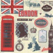 Serviette papier Londres et pub 33 cm X 33 cm 3 plis