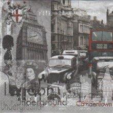 Serviette papier Londres et Taxis 33 cm X 33 cm 3 plis