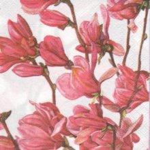 Serviette papier magnolia fleurs 25 cm X 25 cm 3 plis