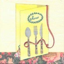 Serviette papier motif Menu de 33 cm X 33 cm 3 plis