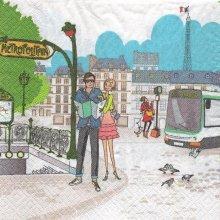 Serviette papier Métro Paris 33 cm X 33 cm 3 plis