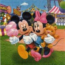Serviette papier Mickey et Minnie à la fête 33 cm X 33 cm