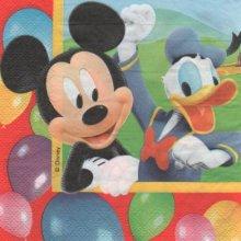 Serviette papier MicKey et Donald 33 cm X 33 cm 2 plis