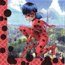 Serviette Miraculous - Ladybug de 33 cm X 33 cm 2 plis