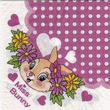 Serviette papier Miss Bunny 33 cm X 33 cm 2 plis