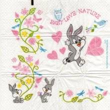 Mouchoir papier Bébé Bunny de 5 cm X 7 cm 4 plis