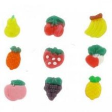 Moule silicone souple et épais motif fruits 12 pièces