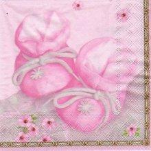 Serviette papier motif naissance fille 33 cm X 33 cm 3 plis