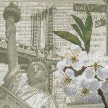 Serviette New York et statue de la Liberté 33 cm X 33 cm