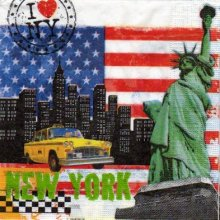 Serviette New York 33 cm X 33 cm 3 plis