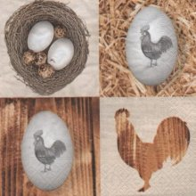 Serviette papier oeufs et poule de Pâques 33 cm X 33 cm