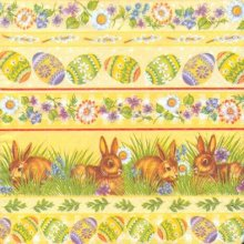 Serviette papier motif oeufs Pâques 33cm X 33 cm 3 plis