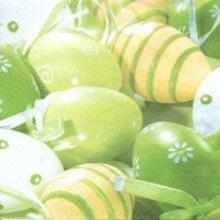 Serviette papier motif oeufs de Pâques coloré vert