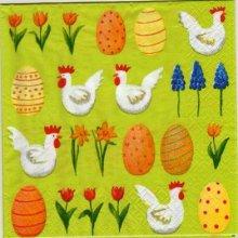 Serviette papier motif oeufs de Pâques 33 cm X 33 cm 3 plis