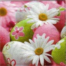 Serviette papier oeufs de Paques et fleurs