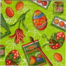 Serviette papier oeufs de Pâques et rubans