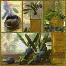 Serviette papier olives noires de 33 cm X 33 cm 3 plis