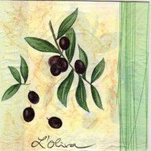 Serviette papier olives et Sud de 33 cm X 33 cm 3 plis