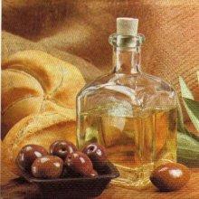 Serviette papier olives et pain de 33 cm X 33 cm 3 plis