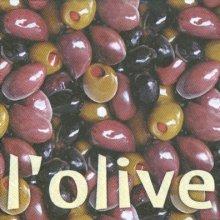 Serviette papier motif olives noires33 cm X 33 cm 3 plis