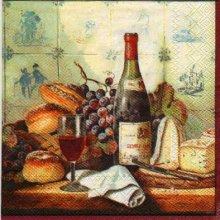 Serviette papier pain et fromage 33 cm X 33 cm 3 plis